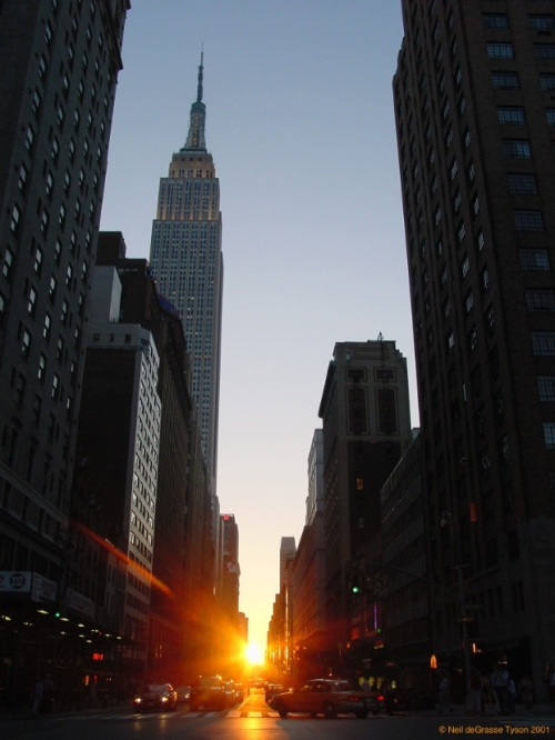 Manhattanhenge by Neil deGrasse Tyson.