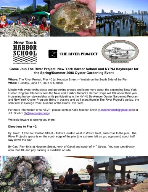 oyser invite, The River Project.