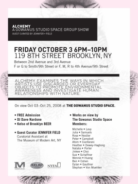 Alchemy at Gowanus Studio Space.